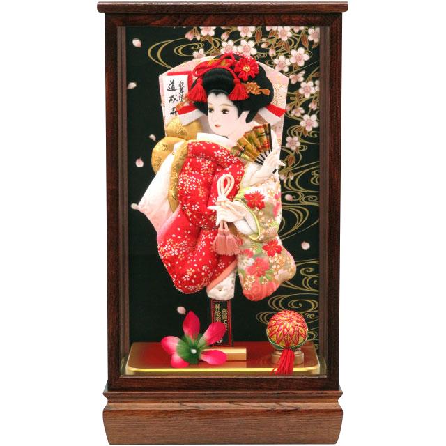 令華10号 華流水刺繍 紅白桜刺繍
