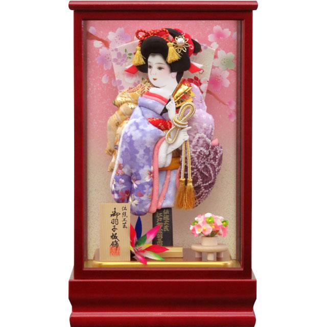 紅桜8号 刺繍振袖詩音 紫ぼかし有松
