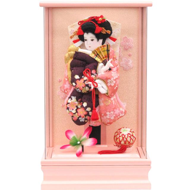アクリルピンク9号 華流水刺繍 桜紫