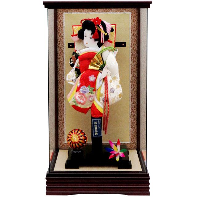 G13号 R金彩刺繍 紅白金駒刺繍