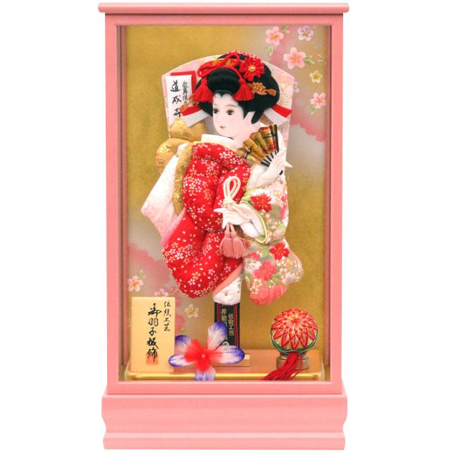 桃春10号 華流水刺繍 紅白