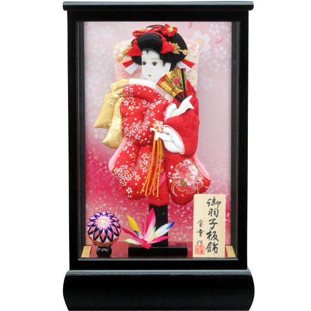 初春9号 華流水刺繍 赤小桜刺繍