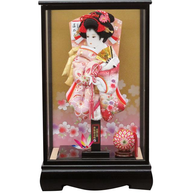 咲季13号 華流水刺繍 白ピンク