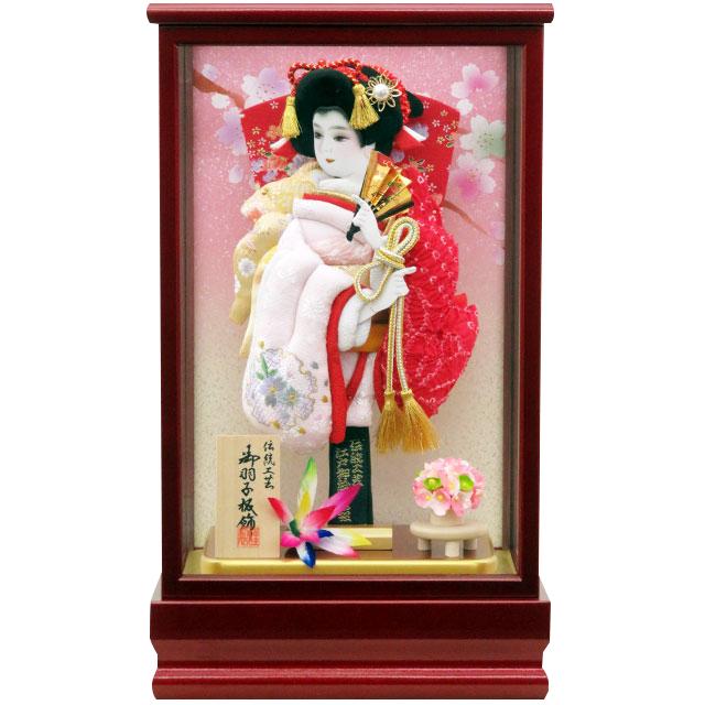 紅桜8号 刺繍鹿の子振袖 淡いピンク赤鹿の子