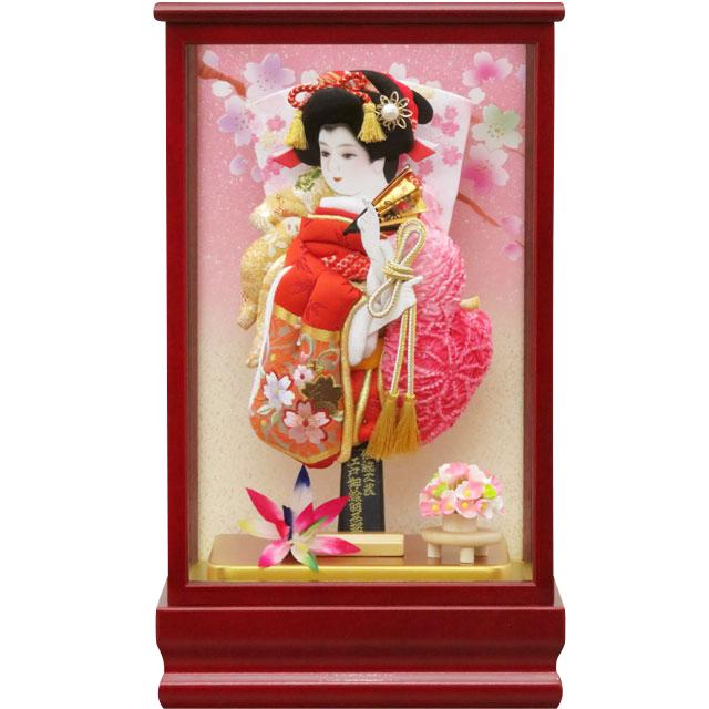紅桜8号 刺繍振袖詩音 赤ピンク鹿の子