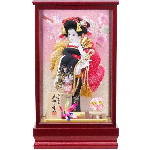 紅桜8号 刺繍振袖詩音 赤鹿の子