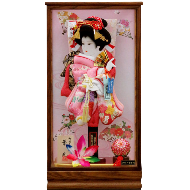 華苑15号 華流水刺繍 赤ピンク