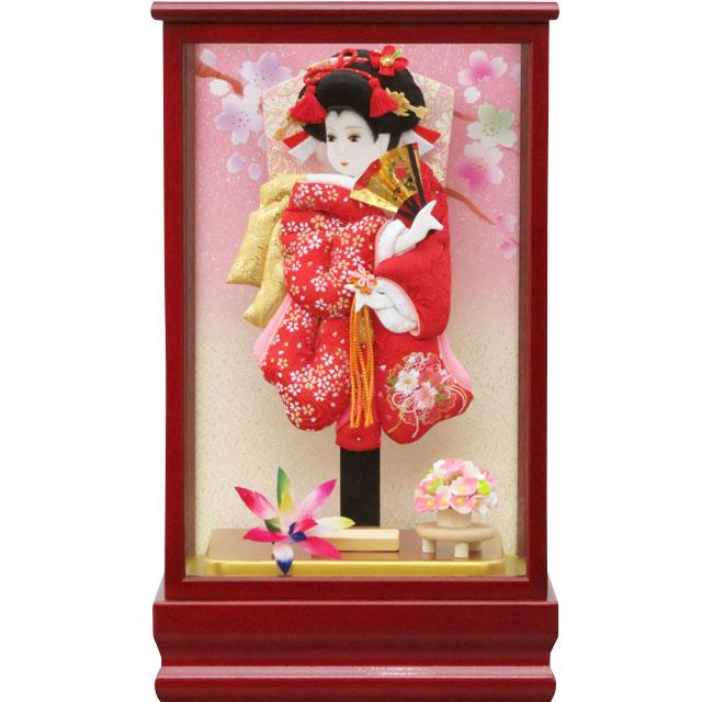紅桜8号 華流水刺繍 赤