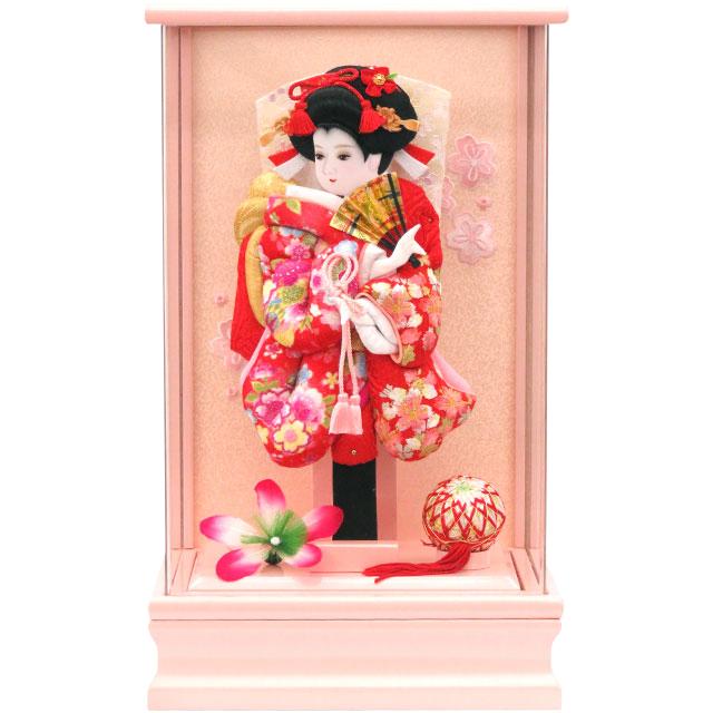 アクリルピンク9号 華流水刺繍 赤桜