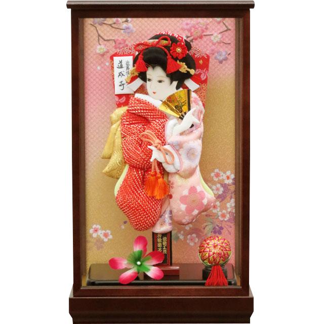 小春10号 華流水鹿の子 赤桜ピンク