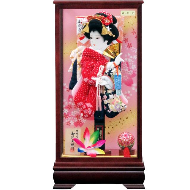 夢桜15号 華流水刺繍 鹿の子赤紺