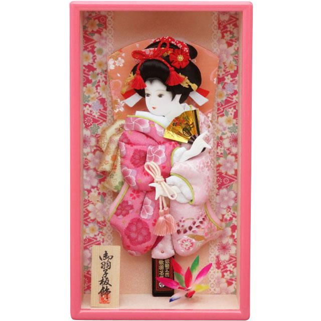10号 額入り 華流水金襴  ピンクケース