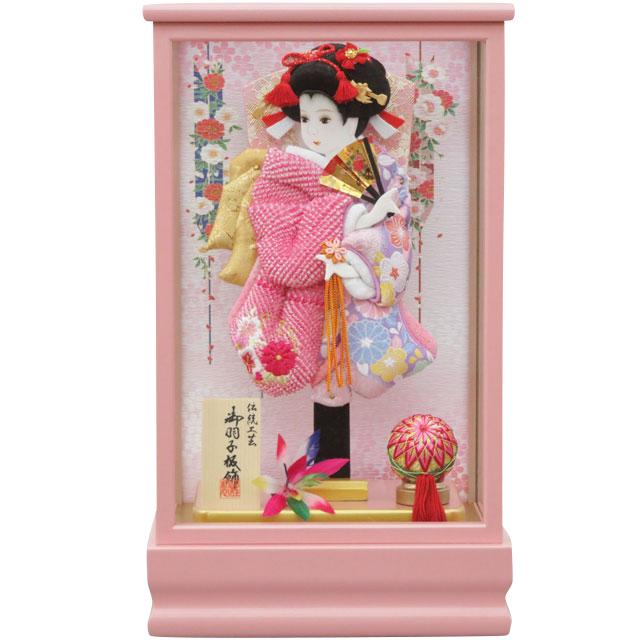 桃春8号 華流水刺繍 ピンク鹿の子刺繍