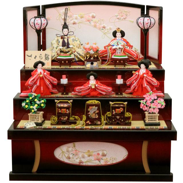 彩香 さくら舞 花の宴 五人三段収納飾