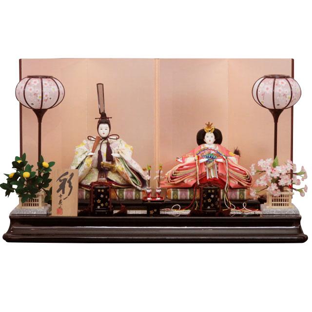 彩雛 正絹 京十二番親王飾 パールピンク