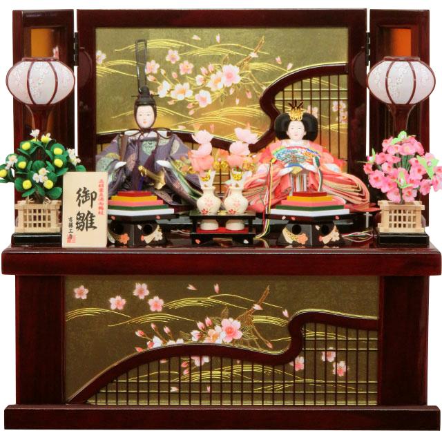 泰玉オリジナル 京十二番親王 正絹雲立涌地向鶴丸紋 桜衣収納飾