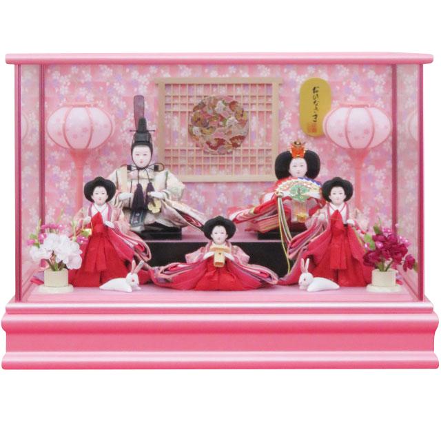 御雛 桜爛漫 小芥子五人飾