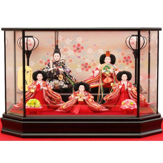 御雛 桜金襴 五人飾