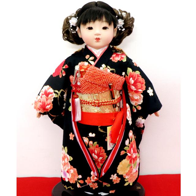 公司 市松人形 13号 友禅金彩振袖
