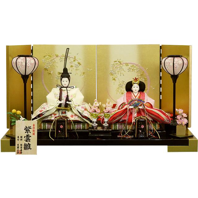紫雲雛 金彩桜刺繡 和楽 平飾り