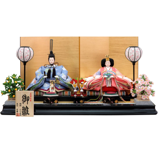桃苑雛 正絹 京九番親王 平飾セット
