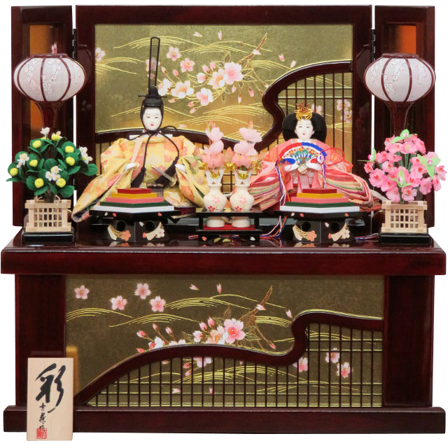 彩雛 芥子親王 組子桜衣収納飾