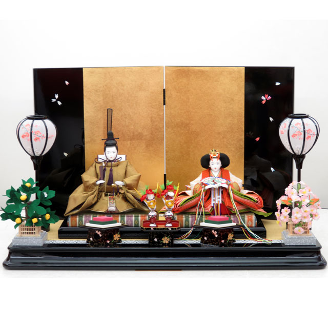 桜雛 京十番親王 らでん桜屏風平飾セット