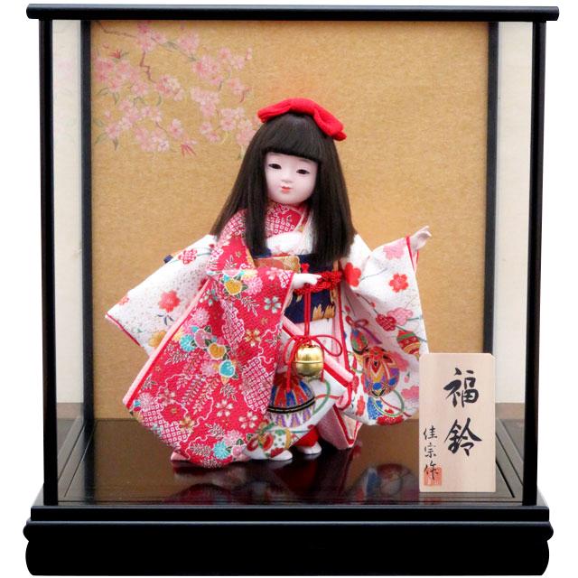 舞踊人形 寿 福鈴 赤白友禅