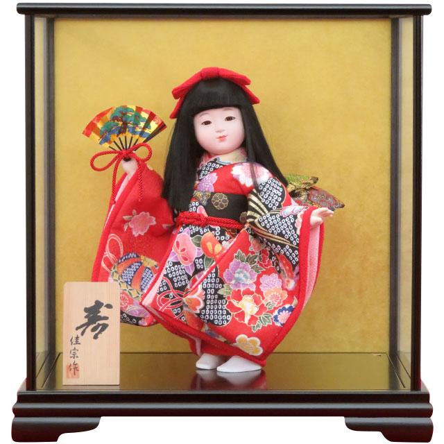 舞踊人形 寿 舞扇 赤友禅