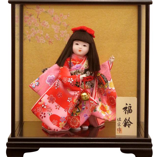 舞踊人形 福鈴 ピンク友禅