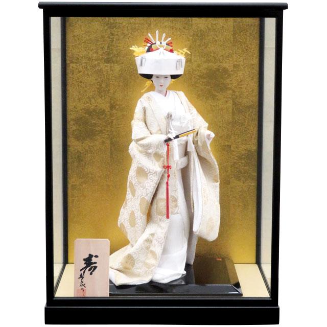 日本人形 寿 白無垢 8号