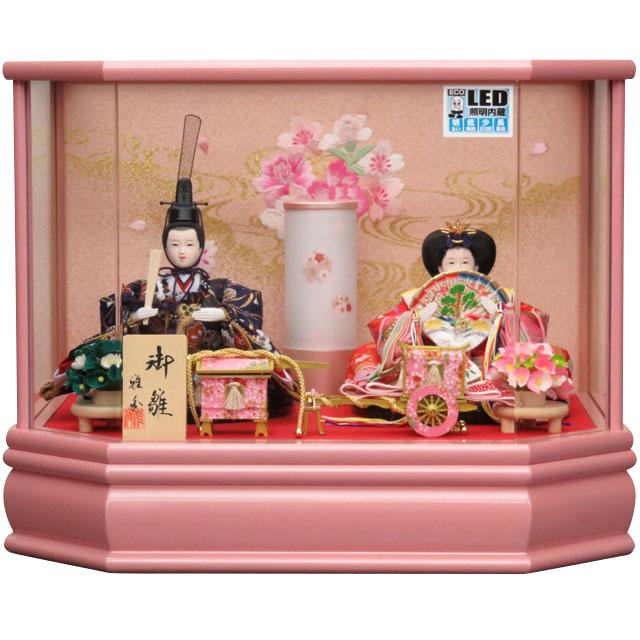 麗華雛 小芥子親王飾 ピンクケース