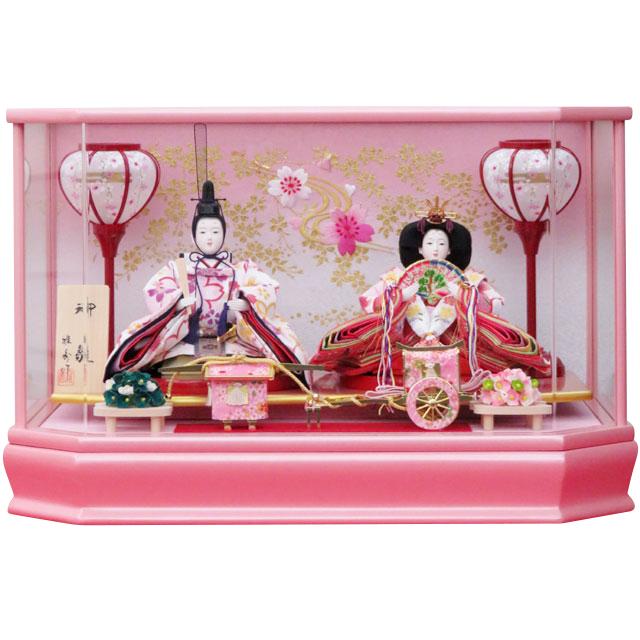 麗華 小三五親王飾 ピンクケース