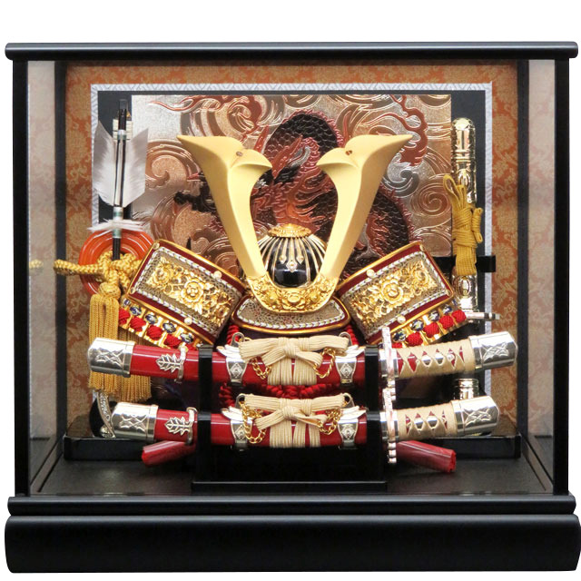 8号 皇剣兜 弓太刀飾り付
