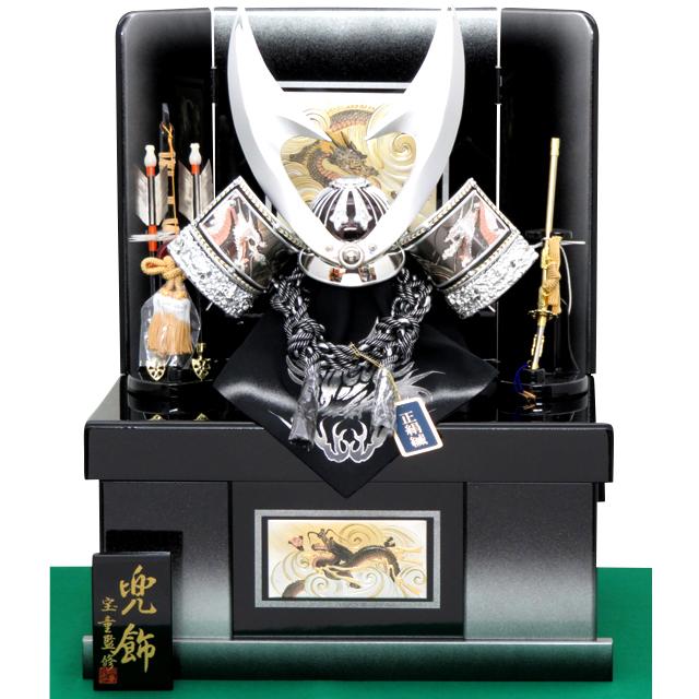 銀竜彫金はやぶさ兜 10号 収納飾り