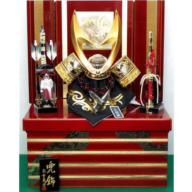 金竜彫金はやぶさ兜 10号 収納飾り
