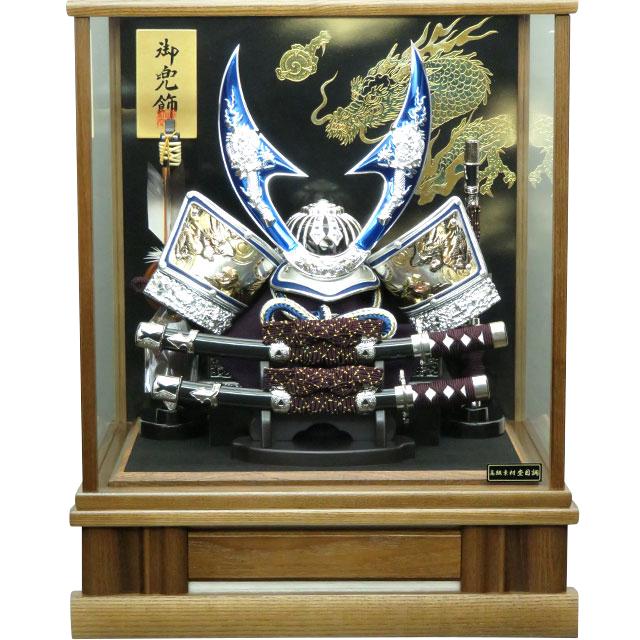 12号 青銀龍虎兜飾 ハヤブサ タモケース
