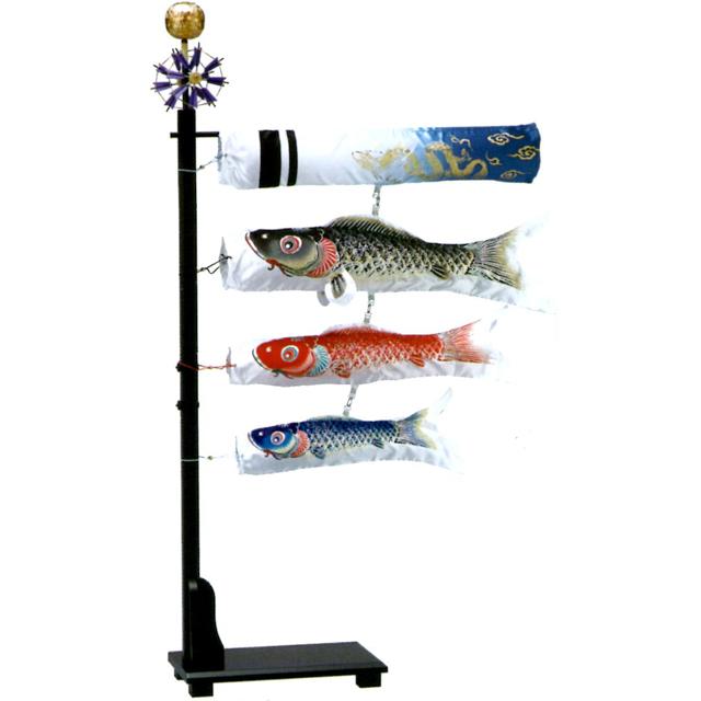 室内鯉のぼり飾り 銀鱗 プチ座敷鯉物語