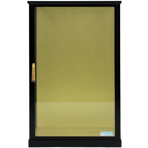 ガラスケース 18号 黒立 戸付