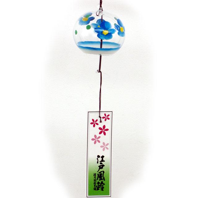 小丸 風鈴 花ブルー