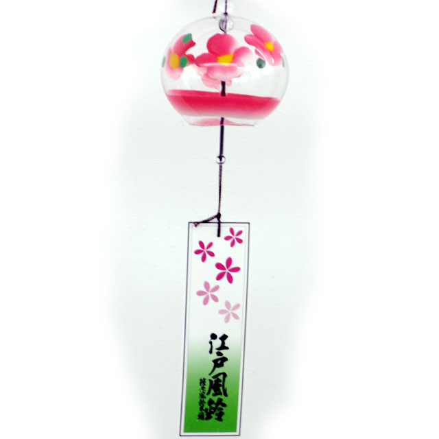 小丸 風鈴 花ピンク